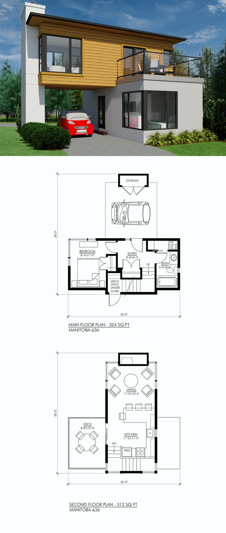 636 sq. ft., 1 bedroom, 1 bath