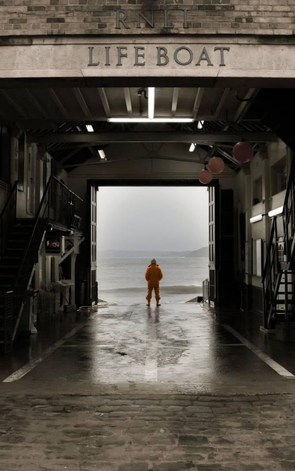Mooie foto van Nigel Millard. Bemanningslid reddingboot bij RNLI, de KNRM in het Verenigd Koninkrijk