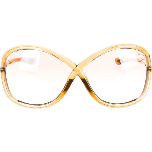Tom Ford Pre-owned Tom Ford Whitney Sunglasses (€110) ❤ liked on Polyvore featuring accessories, eyewear, sunglasses, neutrals, tom ford eyewear, brown gradient sunglasses, round frame sunglasses, round frame glasses and tom ford