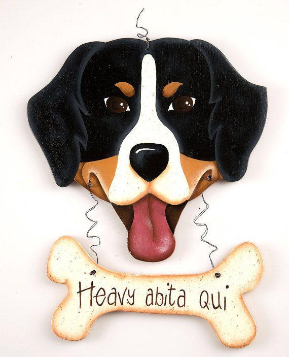 "Bernese Mountain Dog, Targa ""… abita qui"", ""…'s Home"" sign, Front door sign, Door decoration"