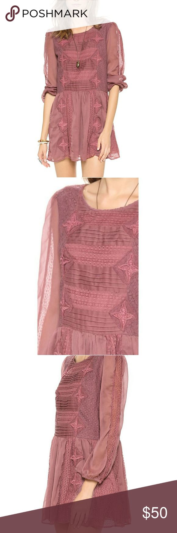 Free People Leigh Dress Great for the woods, or the store, this lightly dropped waist dress will make you feel like every season is your season. Size is small, but it runs medium. I can put it on without unzipping it, so pleazs expect a medium sized dress. Free People Dresses