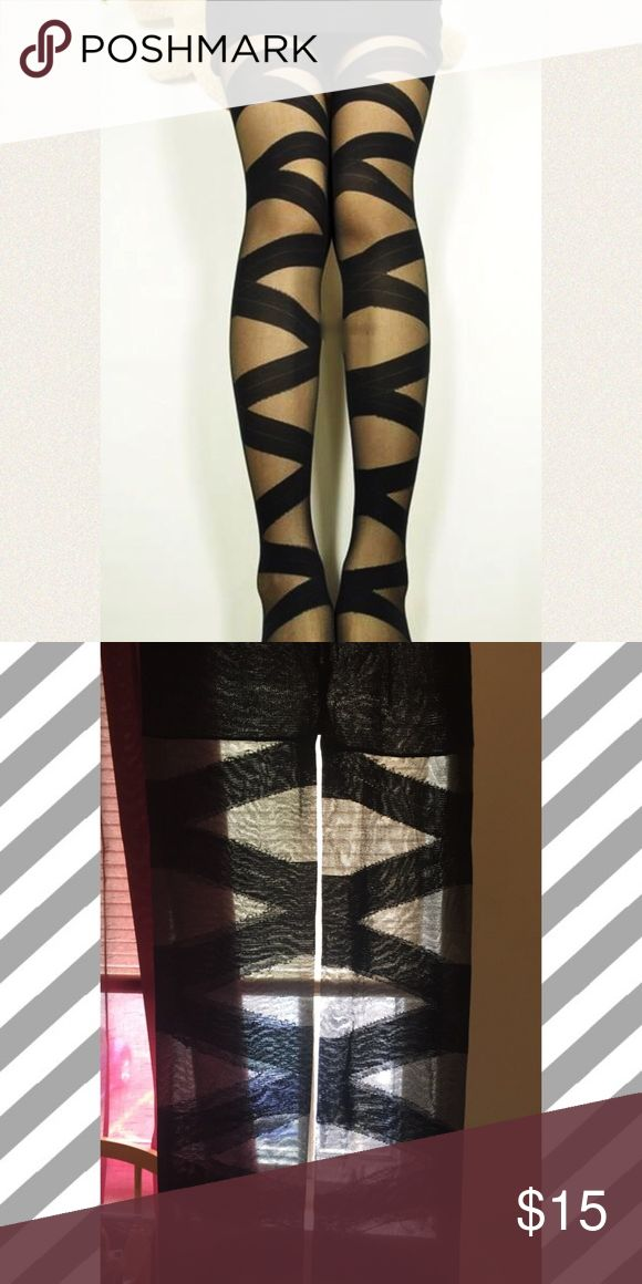 Bandage Cut Out Style Pantyhose Stockings New Fits - 4'11 to 5'7 90-150 pounds Sexy bandage pantyhose Silk blend All items ship from My home in Ohio  ‼️Please read‼️ 🎉Sale🎉 All prices ✂️ 💯Brand new HIGH QUALITY💯 💯What u see is what u get💯 ⚡Next day ship⚡ ✔Offers welcome on items $10+ 🚫No Trades 💖Just got💍engaged 💍 5-21💍 💯New goal -raise money to bring my fiance to America n get married. Step one the visa.... Plz follow n share thank u Accessories Hosiery & Socks