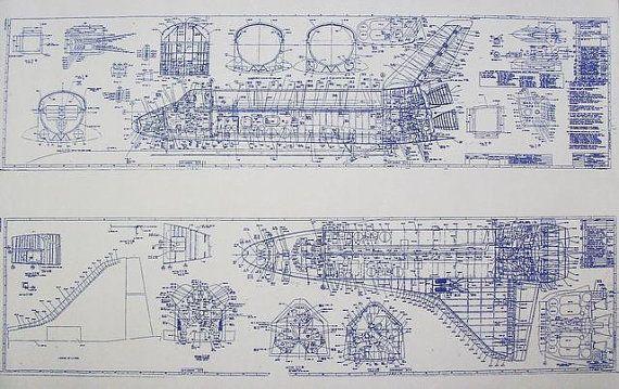 Plan de la navette spatiale par BlueprintPlace sur Etsy                                                                                                                                                                                 Plus