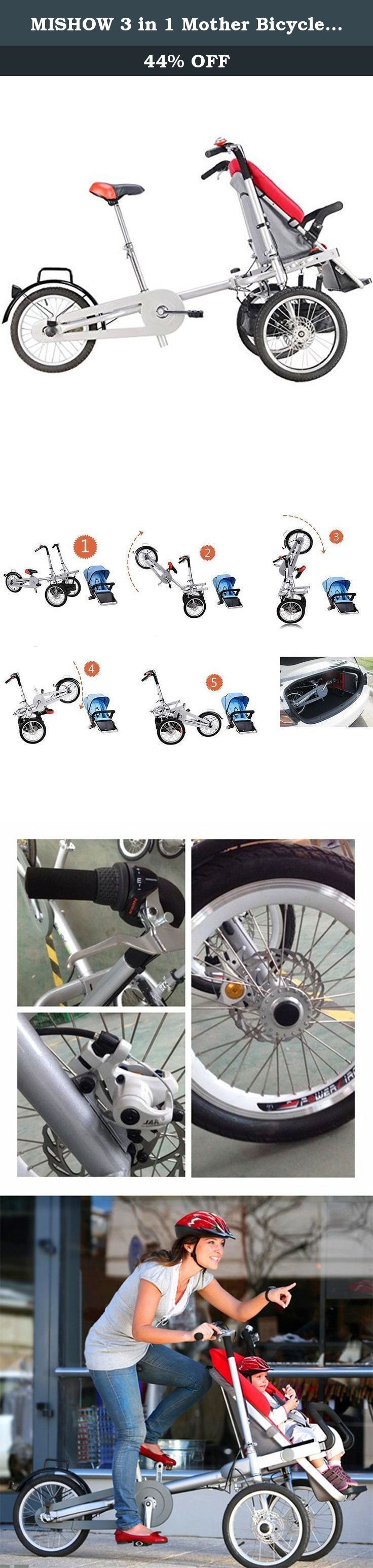 MISHOW 3 in 1 Mother Bicycle Baby Stroller Pushchair 3 Wheel Bike Folding Child Cargo Bicycle MBTS01Y. This Mother Baby Stroller(Model number: MBTS01Y)which is a registered trademark in US recognized by American Law and Amazon Rules, is uniquely designed for mother who has baby(6 month-6 years old) with high quality ,safe,creative ,personalized ,comfortable, convenient as well as durable. This Bike Stroller is a multifunctional vehicle designed for families on the go.It is a baby stroller...