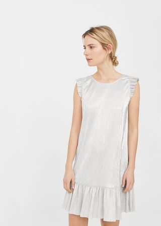 Metallic pleated dress -  Woman | MANGO Serbia