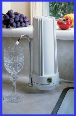 This 10 Stage Countertop Water Filter is easy to install--no plumbing required!  The filters last 3x as long as  the average cartridge (up to 18 months!) and are very affordable.