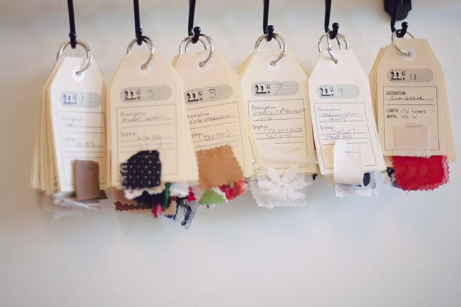 How I organize my fabric stash + free downloadable stash tags! | Coletterie