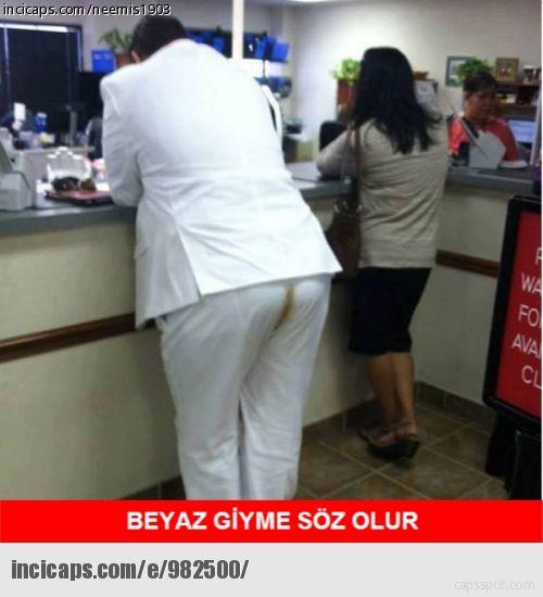 Beyaz giyme söz olur.  #karikatür #mizah #matrak #komik #espri #şaka #gırgır #komiksözler