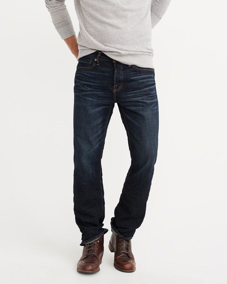A&F Men's Bootcut Jeans in Blue - Size 38 X 32