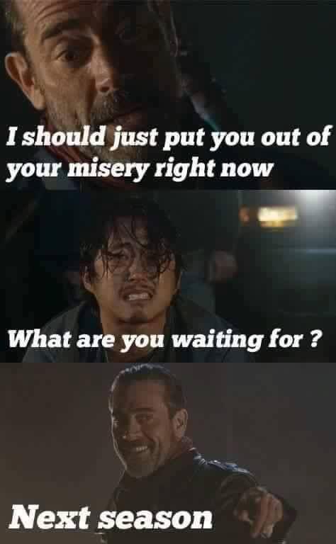 The Walking Dead Glenn Eye Meme