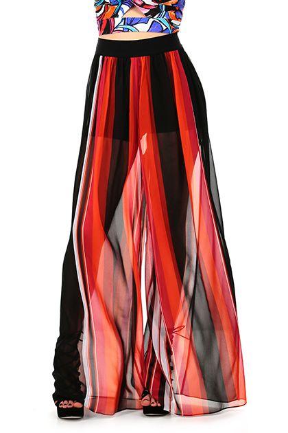 Hanita - Pantaloni - Abbigliamento - Gonna pantalone a vita alta con pantaloncini a sottoveste. Gamba ampia. - FUXIA - € 149.00