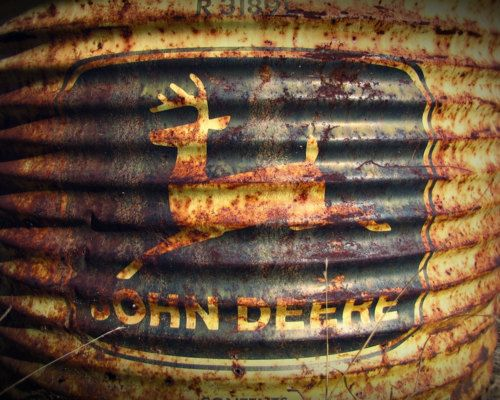 John Deere... rusted, tarnished, corroded and lovely: Barrels, John Deere3, John Deer Posters, Antiques John, Country Life, Etsy Shops, Johndeer, Farmers Life, Rusty Farms