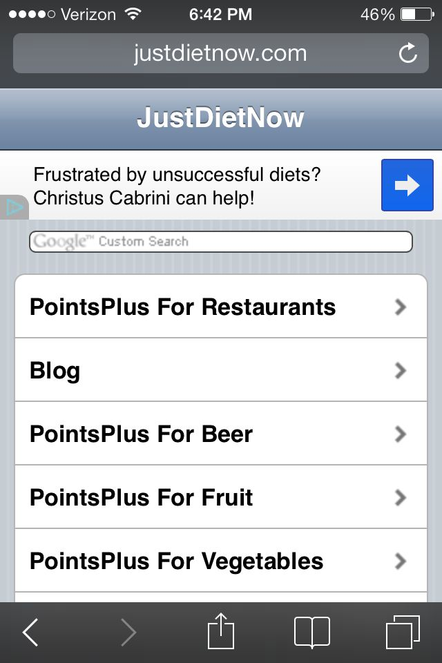 Omg! The BEST website ever for weight watchers point plus.