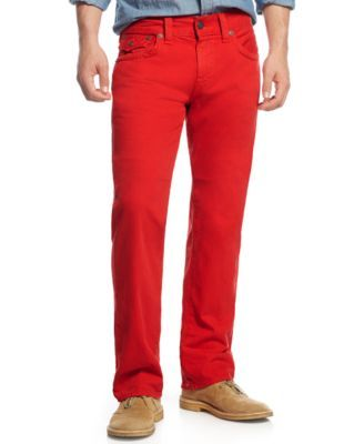 True Religion Ricky Relaxed Straight Fit Colored Jeans