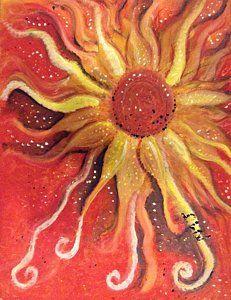 Painting - Red Sun Flower by Regina Jeffers