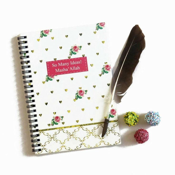 Writing notes have never been so stylish. This feminine style contemporary notebook is perfect to jot down important notes, thoughts, to-do lists, halaqa notes and more. Makes a great gift for family