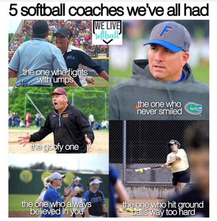 All Of These Things Are My Coach Funny Softball Quotes Funny Sports Quotes Softball Funny