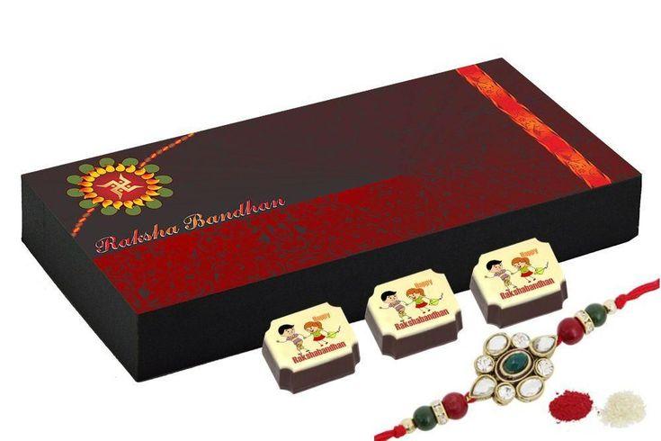 Best rakhi gift - 18 Chocolate Gift Box - Rakhi gift for sister