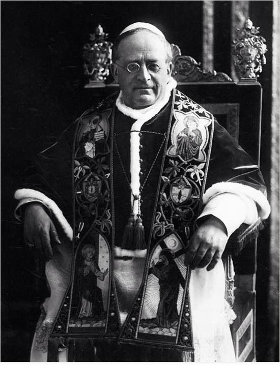 His Holiness Pope Pius XI. Was the pope at the time Blood Wedding is set.