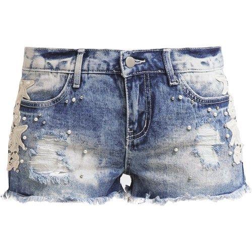 Even&Odd Szorty jeansowe blue denim