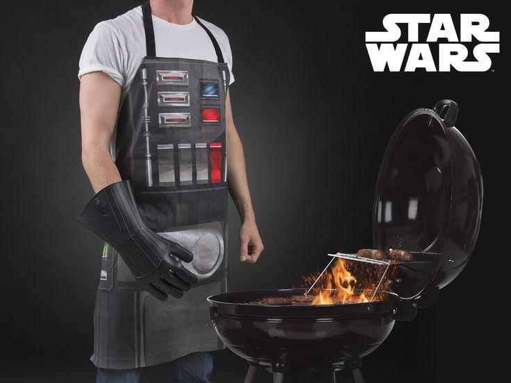 Star Wars Barbecue Apron with Glove - The glove is made of a heat-resilient silicone and the apron protects you from spatters from the grill!