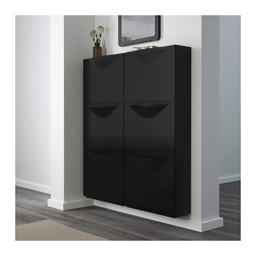 TRONES Shoe/storage cabinet - black - IKEA  i love this for a hallway or foyer space or maybe for dad. currently i'd rather have the tall hemnes cabinet in the foyer for my shoes.