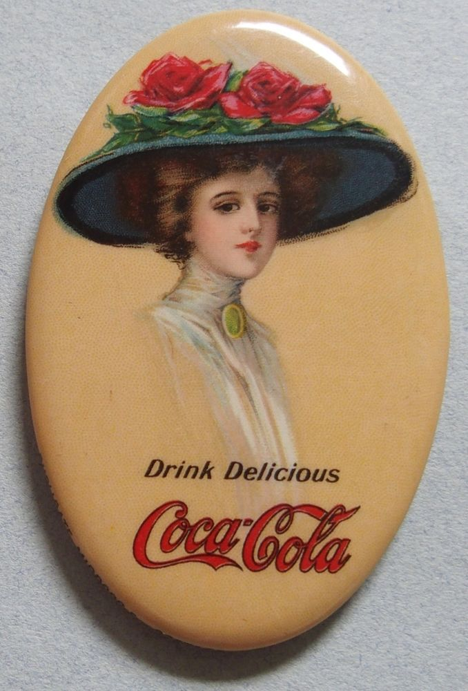 VERY RARE 1911 COCA COLA CELLULOID ADVERTISING POCKET MIRROR BEAUTIFUL GIRL MINT | Collectibles, Advertising, Merchandise & Memorabilia | eBay!