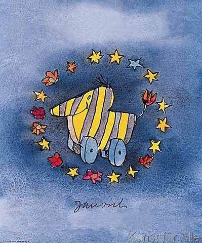 Cute Janosch Euro Ente