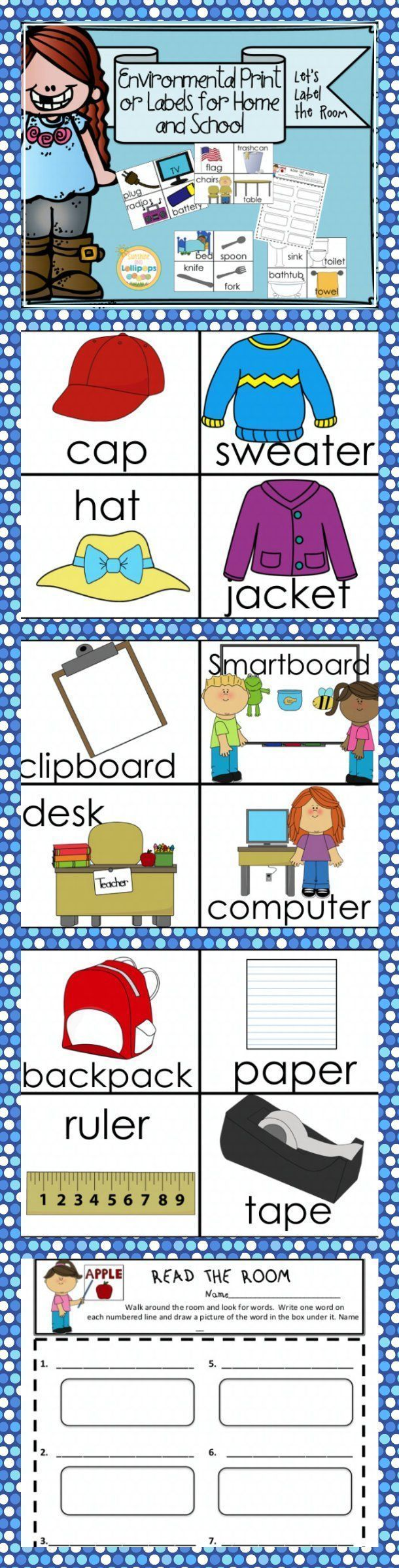 Environmental Print or Labeling the Room for Home and School Labeling your classroom can benefit all children especially emergent readers and English Language Learners.