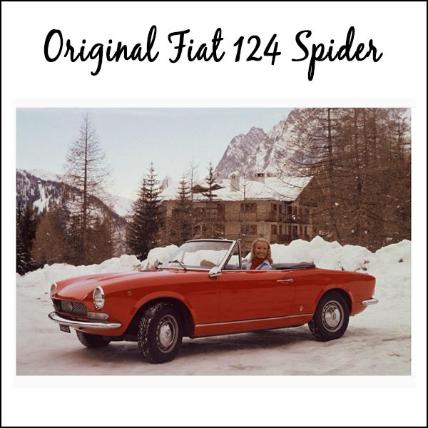THROWBACK THURSDAY to the original Fiat 124 Spider. #TBT
