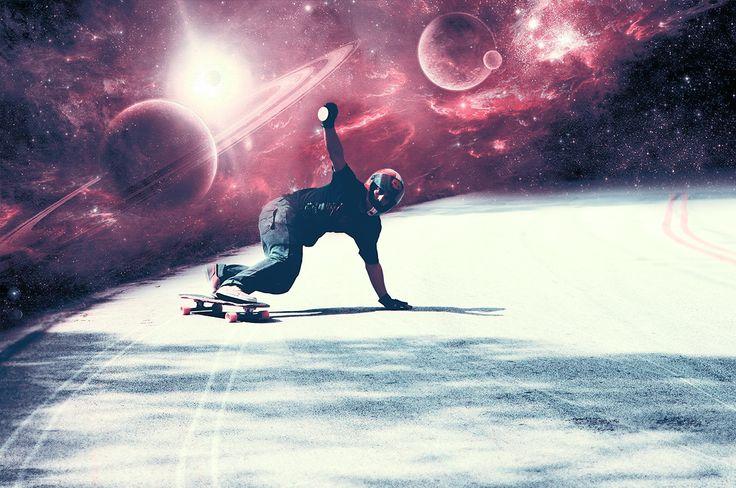 Space Edit - Rider Luiz Anderson #laarte #freeride #downhillskateboards #longboard #skate #skateboarding #downhill #space