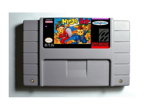 Super Ninja Boy SNES 16-Bit Game Reproduction Cartridge USA NTSC Only English Language (Tested Working)  (Please take note that this item is coming from Hong Kong, China and delivery takes 11 to 24 working days)  Description:  - This is a REPRO...