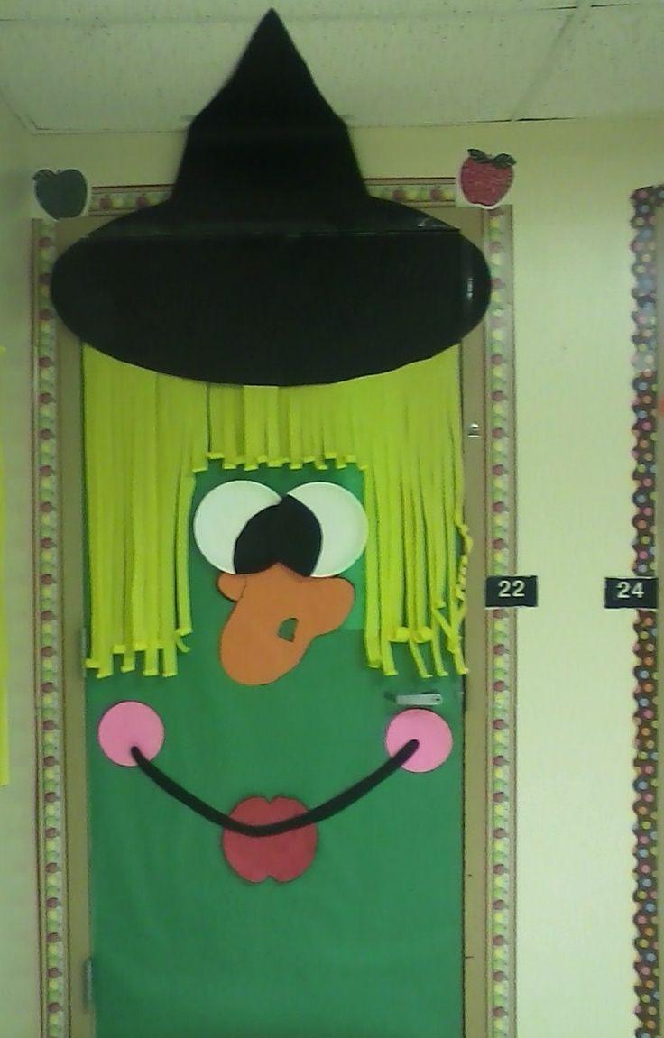 witch door cute halloween classroom doorhalloween door decorationsclassroom - Cute Halloween Door Decorations