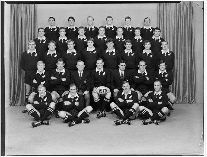 All Blacks, New Zealand representative rugby union team 1970