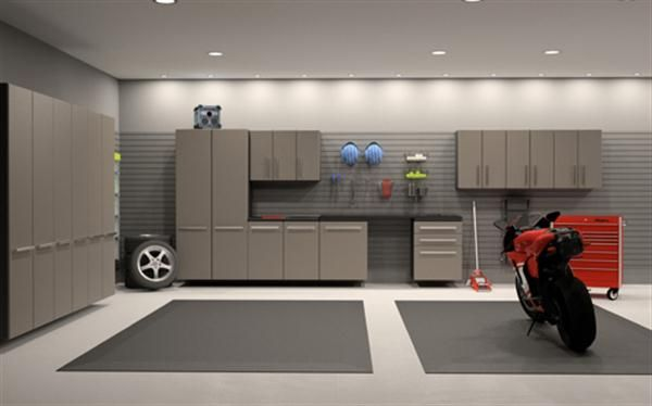Garage Interior Design Ideas and Its Value: Modern Garage Interior Design  Ideas Red Motorcycle ~ housefashions.net Interior Inspiration | Pinterest |  Garage ...