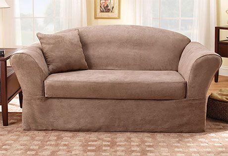 Sure Fit Slipcovers Suede Supreme Separate Seat - Sofa but in chocolate $72 final sale