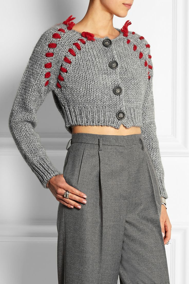 Vivienne Westwood Anglomania | Frankenstein cropped chunky-knit cardigan | NET-A-PORTER.COM