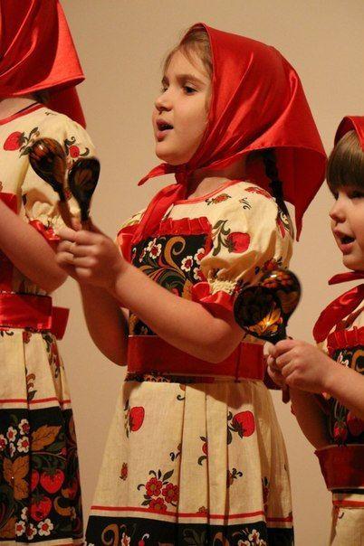 Russian costume for girls. Khokhloma от RussiansByAnastasiya