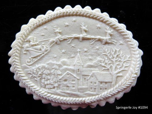 Santa In the Sky cookie mold. http://www.springerlejoy.com/santa_in_the_sky_springerle_cookie_mold_p/1094.htm