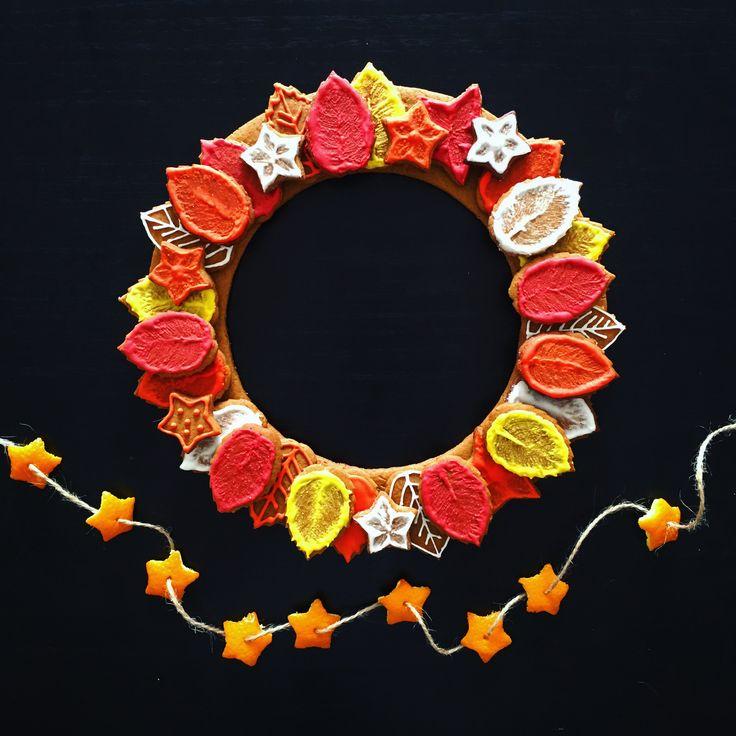 Autumn Ginger Cookies Wreath