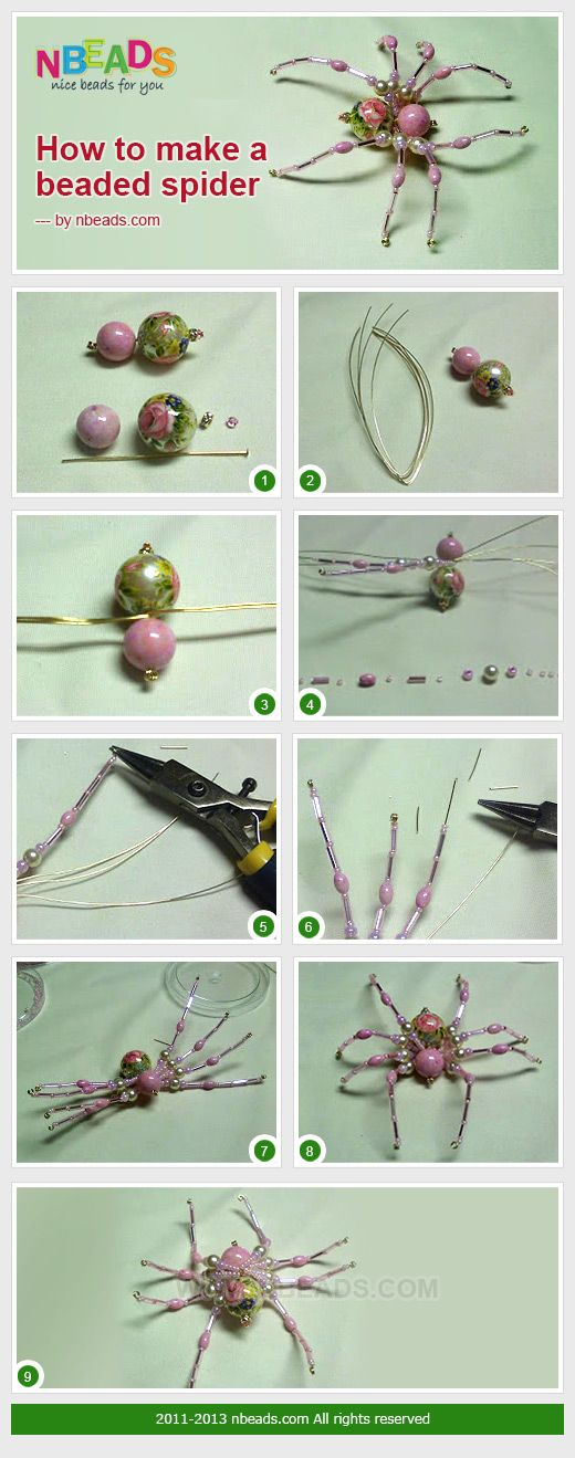 How to Make A Beaded Spider diy crafts easy crafts diy crafts diy decor easy diy kids crafts craft decorations craft bracelet
