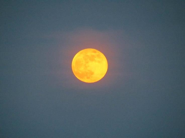 Luna de Noviembre 2012 color calabaza previa al Halloween @Pp_Lozano