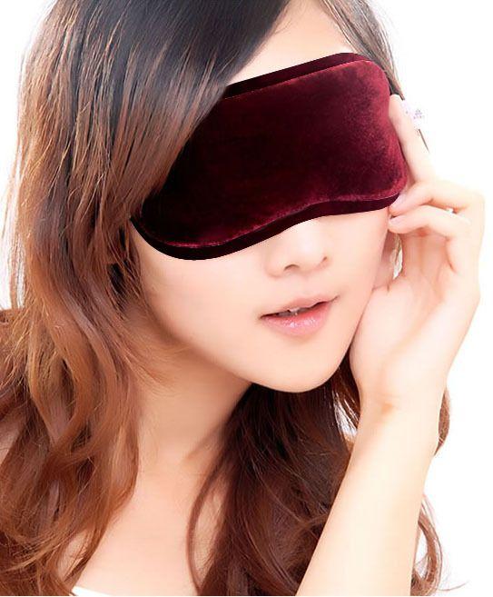Fashionable Lembut tourmaline Masker Mata Naungan Nap Sampul Blindfold Sleeping Travel untuk tidur yang baik