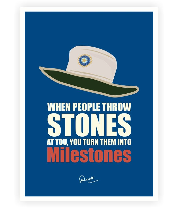 When people throw stones.. Sachin Tendulkar Life Motivational Quotes Poster #sachin tendulkar #sports posters #inspirational Posters #motivational posters