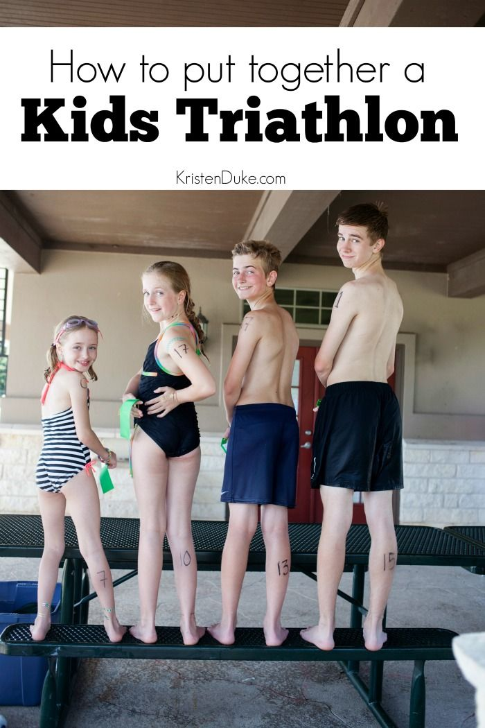 How to put together a kids triathlon