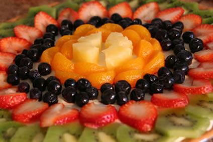 of fresh fruit on top. If you want to know how to make fruit pizza ...