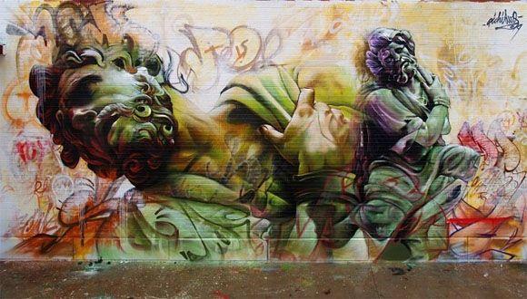 A görög istenek betolakodnak az utcai graffiti művészetbe | printscreen.hu