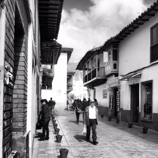 Street Zipaquira Colombia