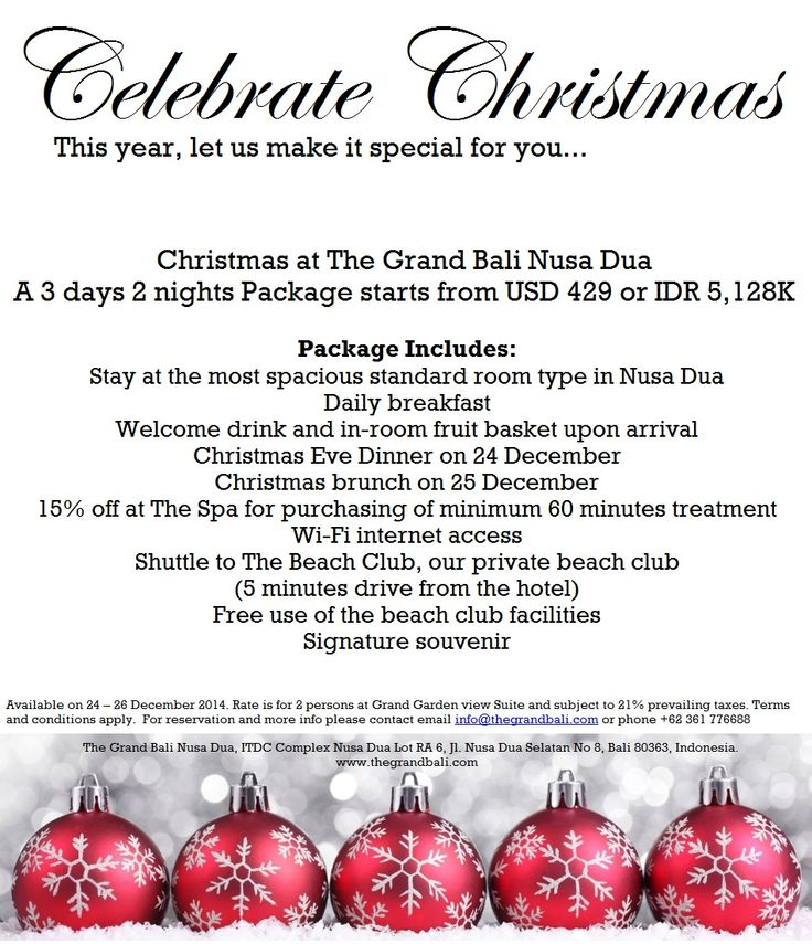 Celebrate Xmas and stay at The Grand Bali Nusa Dua