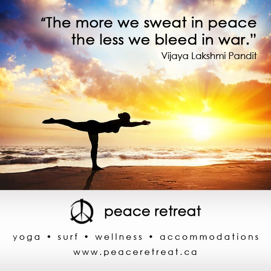 Sweat with us!  www.peaceretreat.ca